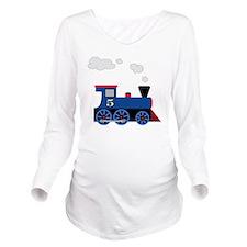 train age 5 blue bla Long Sleeve Maternity T-Shirt