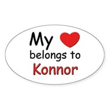 My heart belongs to konnor Oval Decal