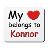 My heart belongs to konnor Mousepad