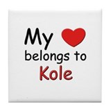 My heart belongs to kole Tile Coaster