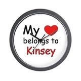 My heart belongs to kinsey Wall Clock