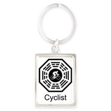 2-Cycling_men Portrait Keychain