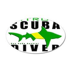 Scuba Diver Shark NITROX 6.5 35x21 Oval Wall Decal