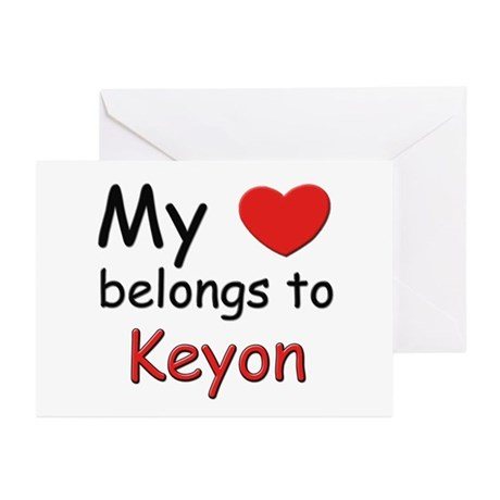 My heart belongs to keyon Greeting Cards (Package