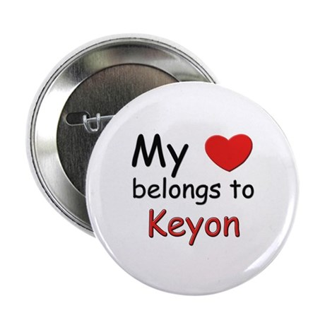 My heart belongs to keyon Button