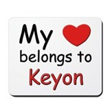 My heart belongs to keyon Mousepad