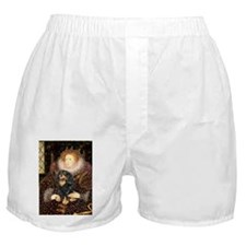 PILLOWQueen-Cav-Blk-Tan.png Boxer Shorts