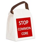 Stop Common Core Canvas Lunch Bag