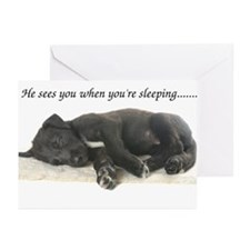 Sleeping Irish Wolfhound Puppy Greeting Cards (Pk