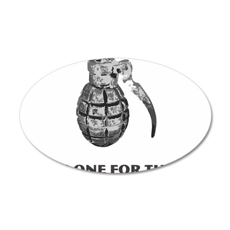 Taking One For the Team 35x21 Oval Wall Decal