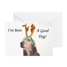 Jadzia Christmas Antlers Greeting Cards