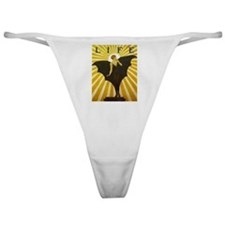 Art Deco Bat Lady Pin Up Flapper Classic Thong