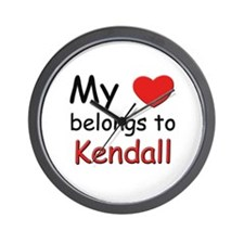 My heart belongs to kendall Wall Clock