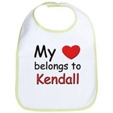 My heart belongs to kendall Bib