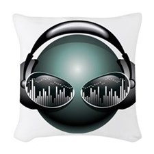 2-dj1 Woven Throw Pillow
