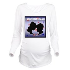 FOV Square Logo with Long Sleeve Maternity T-Shirt