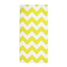 Yellow Chevron Pattern Beach Towel