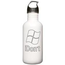 2-idont-shirt Water Bottle