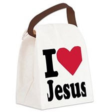 i_love_jesus Canvas Lunch Bag