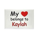 My heart belongs to kaylah Rectangle Magnet