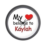 My heart belongs to kaylah Wall Clock