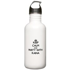 Keep Calm and Party with Raina Water Bottle