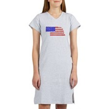 Nebraska Flag Women's Nightshirt