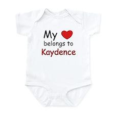 My heart belongs to kaydence Infant Bodysuit