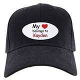 My heart belongs to kayden Baseball Hat