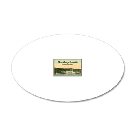Mary Powell 20x12 Oval Wall Decal