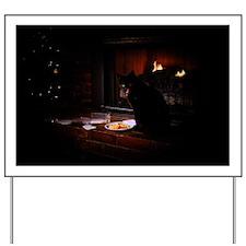Cat Christmas Card Yard Sign