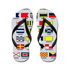 Maritime flags pillow Flip Flops