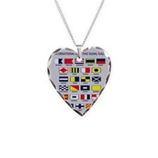 Maritime flags pillow Necklace