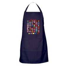 European Flags_dark tee Apron (dark)