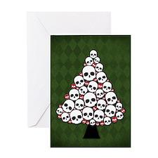 Holiday Skull Tree Greeting Cards