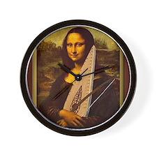 Mona Lisa canvas extra large Wall Clock