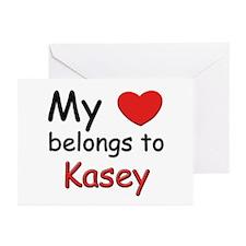 My heart belongs to kasey Greeting Cards (Package