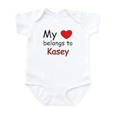 My heart belongs to kasey Infant Bodysuit