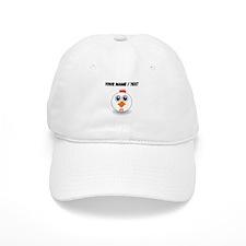 Custom White Hen Baseball Baseball Cap