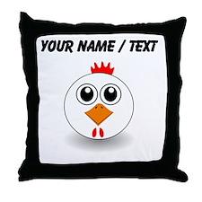 Custom White Hen Throw Pillow