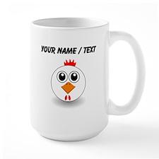 Custom White Hen Mugs