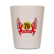wings70 Shot Glass