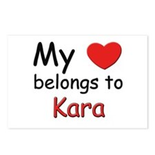 My heart belongs to kara Postcards (Package of 8)
