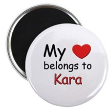 My heart belongs to kara Magnet