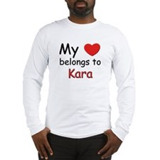 My heart belongs to kara Long Sleeve T-Shirt