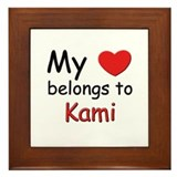 My heart belongs to kami Framed Tile