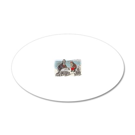 2-ALICE _Through the Looking 20x12 Oval Wall Decal