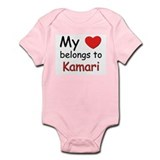 My heart belongs to kamari Onesie