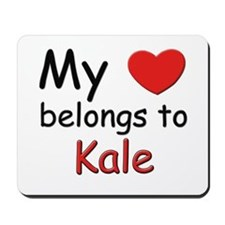 My heart belongs to kale Mousepad