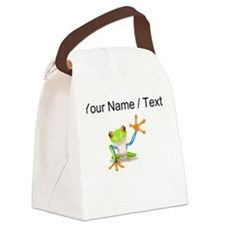 Custom Tree Frog Canvas Lunch Bag